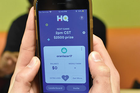 HQ Trivia app enthralls students