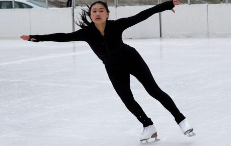 GLIDE. Kathy Luan practices at the Midway Plaisance ice rink, where she first began to skate at 3 years old. Since then, she has become a competitive skater in team and solo competitions.