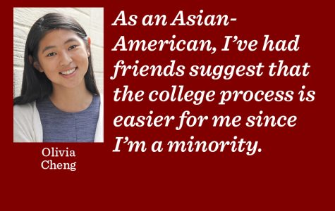 Race is not sole reason for college acceptance