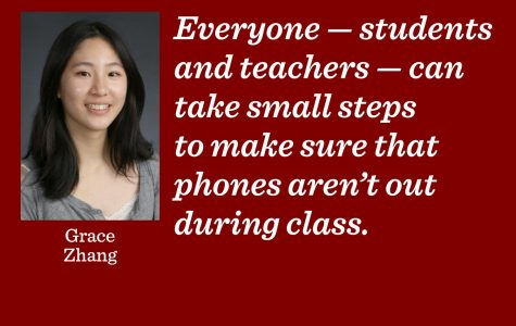 Phones: distracting, disrespectful, don't belong in class