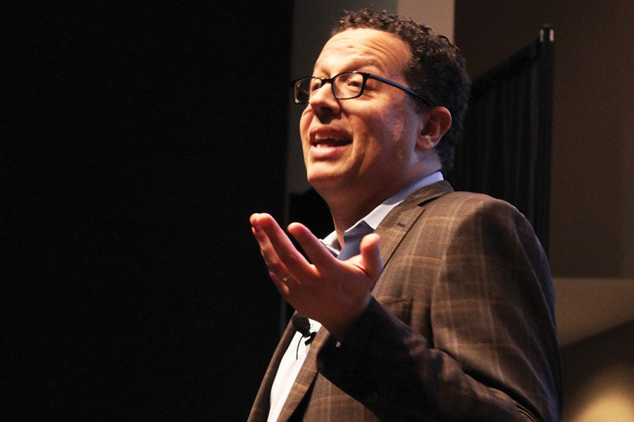 THE OPPOSITE OF SPOILED. New York Times Columnist Ron Lieber presents to the Parents' Association on April 23. Mr. Lieber  wanted to convince parents to have a more open and honest conversation about money to give it the respect it deserves.