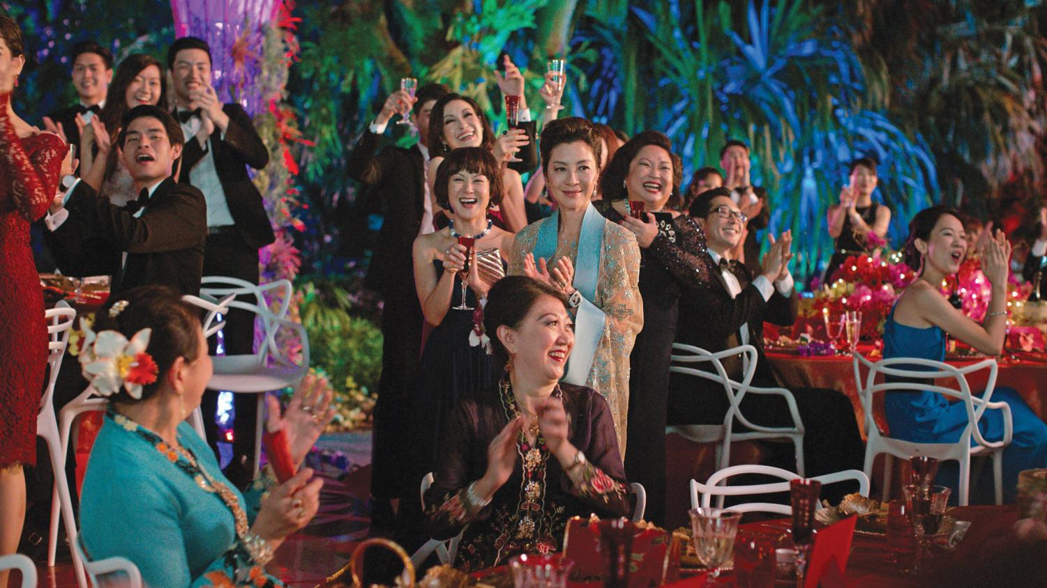 "ASIAN CELEBRATION. In ""Crazy Rich Asians"" based on Kevin Kwan's best-selling novel of the same name, Nick Young's mother, extended family and friends celebrate his friend's wedding in Singapore. ""Crazy Rich Asians,"" the first major film to feature an all-Asian cast since ""The Joy Luck Club,"" joins ""To All the Boys I've Loved Before"" and ""Searching"" to represent Asian-Americans in popular culture."
