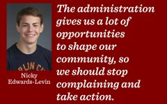 Stop complaining and talk to the administration