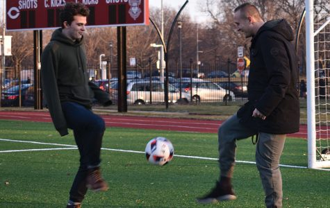 Connor Smith, Josh Potter help each other find balance on the soccer field