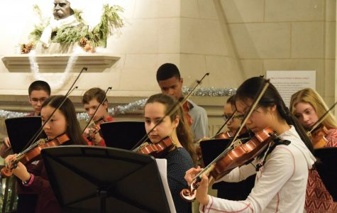 U-High Orchestra plays holiday tunes in annual Lobby String