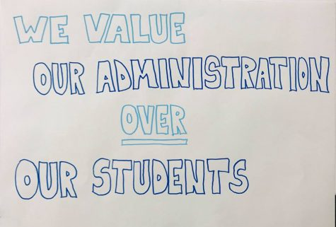 In wake of terminated teacher, student hangs posters critical of administration