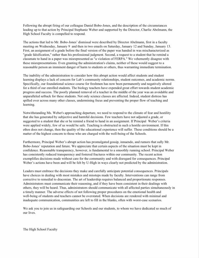The+high+school+faculty+released+a+statement+1%2F22+regarding+the+termination+of+Daniel+Bobo-Jones.