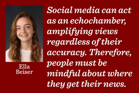 Social media acts as an echo chamber for your opinions