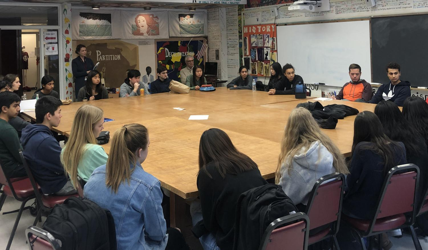 Students gathered in C125 for a humanities Summer Link information session Jan. 24.