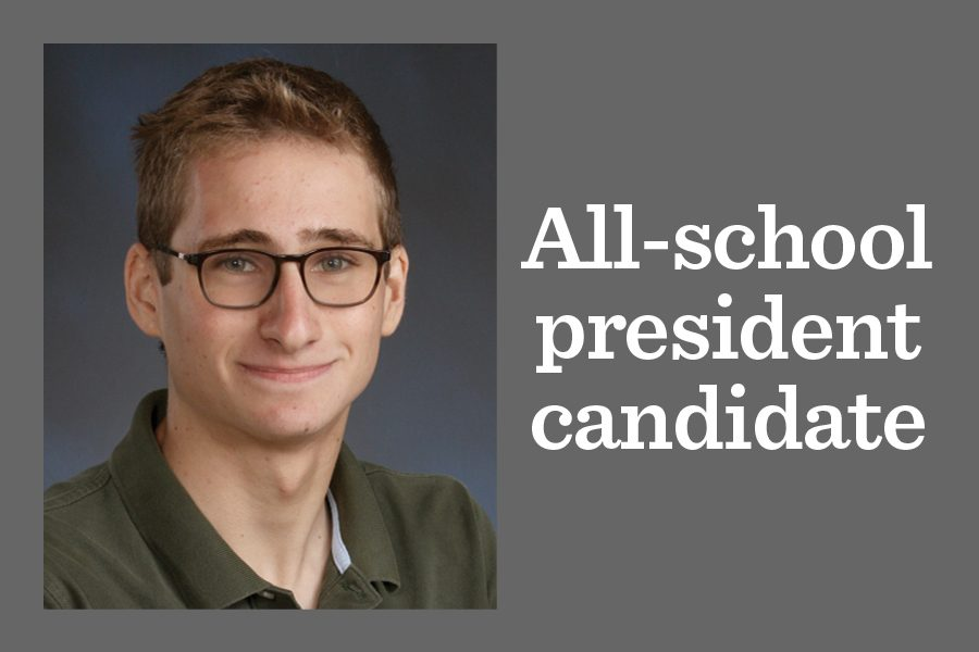 One candidate files for all-school president