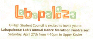 Labapalooza to be hosted April 27 for charity