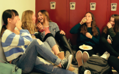 More students eat throughout the school's hallways