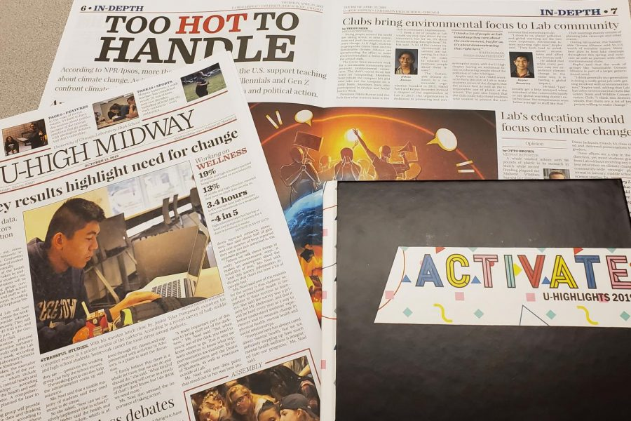 U-High publications receive national recognition