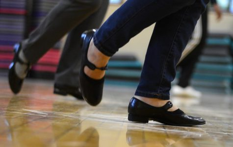 Faculty attend tap dancing lessons