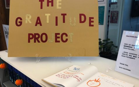 Gratitude Project installs journal for writing positive feelings