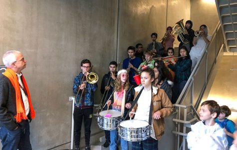Band performs at Earl Shapiro Hall Halloween parade