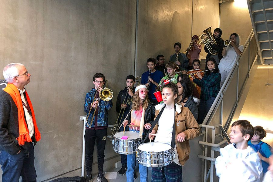 Band performs at Earl Shapiro Hall Halloween parade