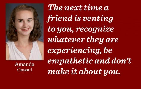 Friends should exercise empathy, not competition
