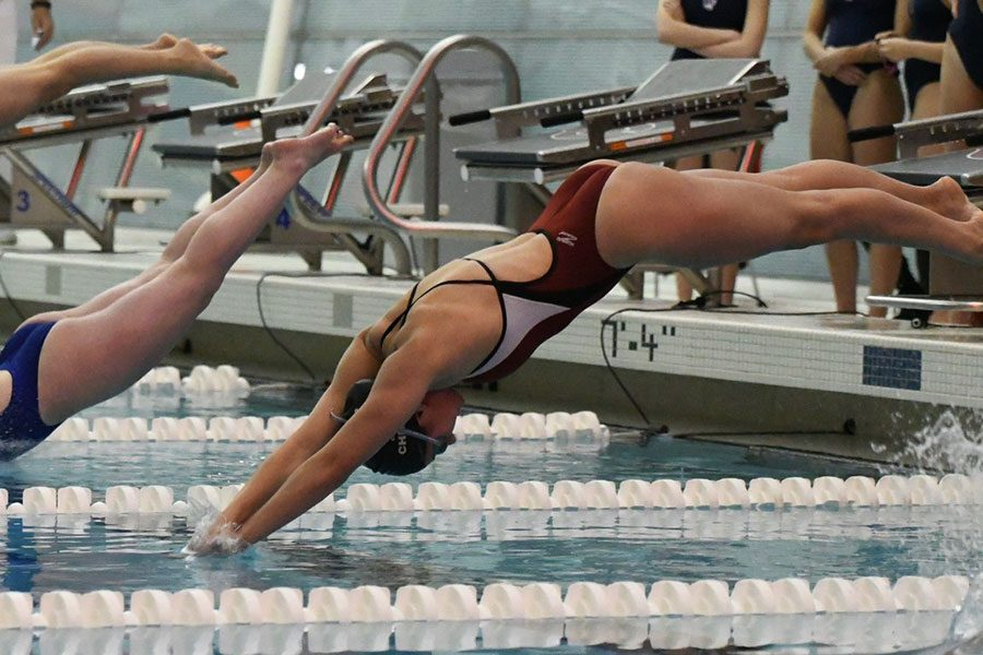 Friendly and focused: Girls swimming adds diving team members