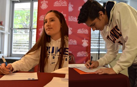 Seniors sign letters of intent during lunch Nov. 13