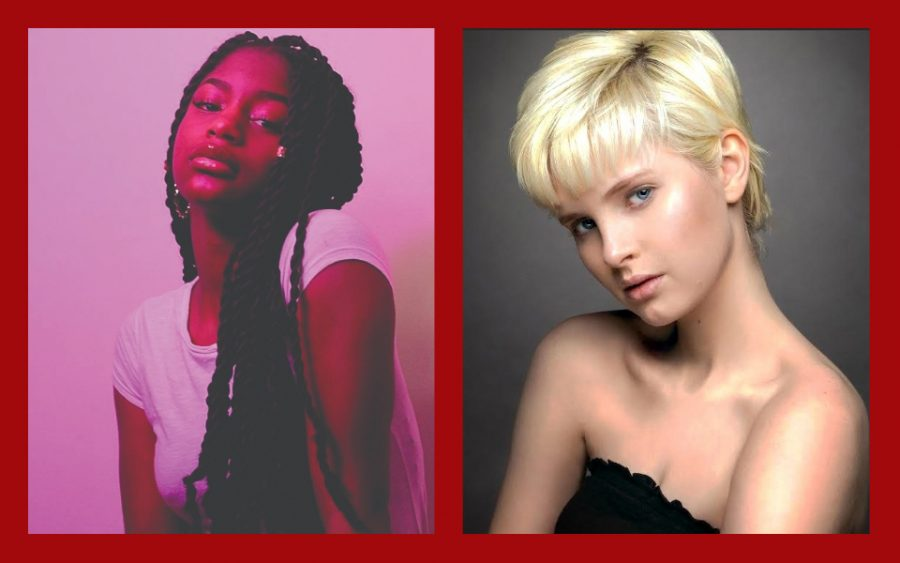 STRIKE A POSE. U-High sophomore Zuzana Jenkins  (right) and Drayona Rollins, a senior at De La Salle Institute (left) have recently begun persuing professional modeling. Though, from the outside, the industry can appear  problematic, they both say the modelling world is changing for the better,   allowing  for more diversity, individuality and freedom of expression.