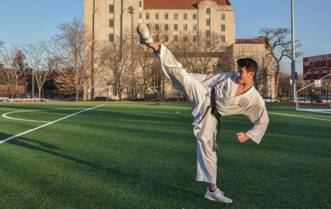 Karate world champion embodies focus, hard work
