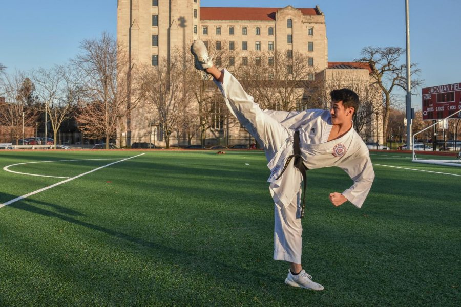 Karate world champion embodies focus, hard work