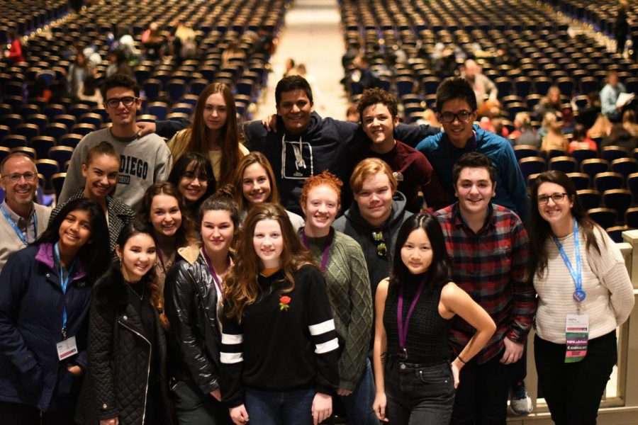 17 journalism students and two teachers attended the National High School Journalism Convention in Washington D.C. Recognition was given both in individual contests that took place at the convention and to work submitted beforehand.