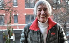 PASSING THE TORCH. Smiling through the cold afternoon, Former Illinois representative Barbara Flynn Currie poses in front of her home in Hyde Park. Ms. Currie encourages students to get involved in issues they care about however they can, even if it's just writing their representatives.