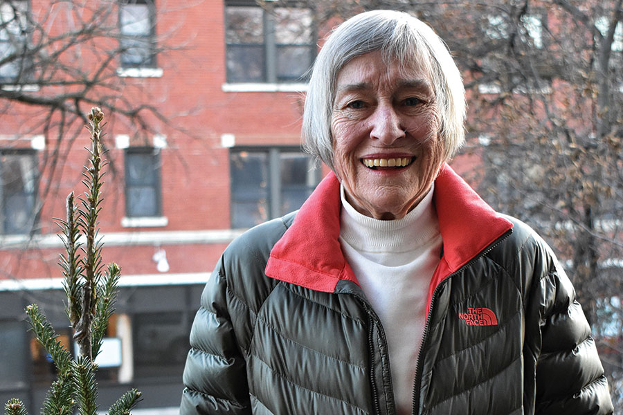 PASSING+THE+TORCH.+Smiling+through+the+cold+afternoon%2C+Former+Illinois+representative+Barbara+Flynn+Currie+poses+in+front+of+her+home+in+Hyde+Park.+Ms.+Currie+encourages+students+to+get+involved+in+issues+they+care+about+however+they+can%2C+even+if+it%27s+just+writing+their+representatives.