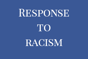 Friends combat racism, not harsh punishment
