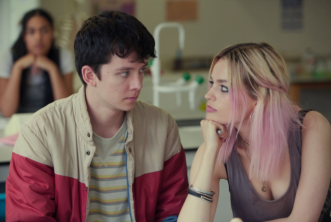 Otis (left) and Maeve (right), main characters of
