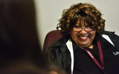 Always a warm welcome: Community service officer Cynthia Boykin is a friendly face for everyone
