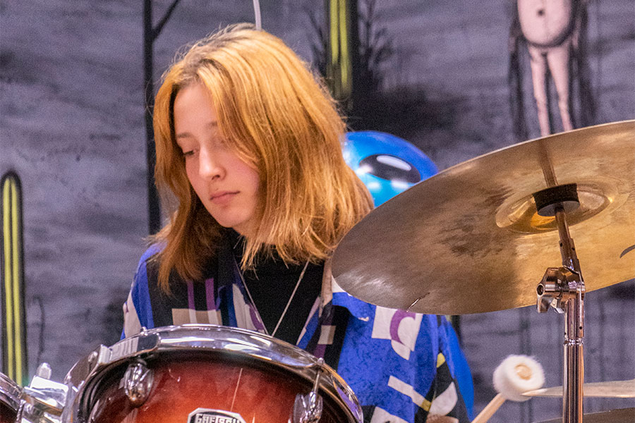 STICK TO THE BEAT. Gigi Reece plays the drums in the noise-rock band Horsegirl. She started playing drums at the performance program, School of Rock, and now puts on gigs at least monthly.