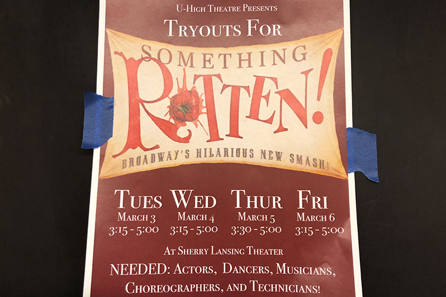 Tryouts for spring musical will be held March 3-6