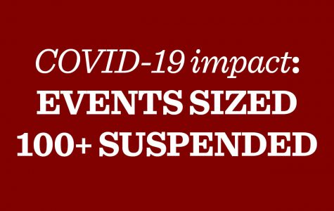 Following University lead, administration cancels dozens of events