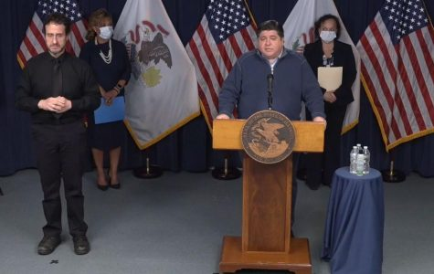 Illinois Governor J.B. Pritzker announces that schools statewide will remain closed for the rest of the academic year in a press conference April 17.