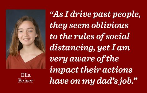 Junior Ella Beiser discusses impact the COVID-19 pandemic has had on her family and urges people to follow stay-at-home order