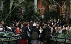 The Class of 2019 eats during prom last year at the Crystal Garden in Navy Pier.