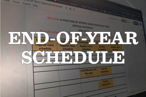 The revised end-of-year schedule for the 2020 spring semester was posted on Schoology recently.
