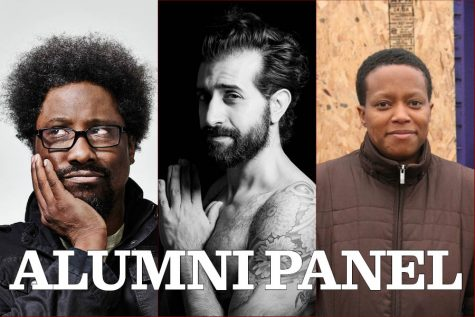 Kamau Bell, left, Karim Sulayman, center and Amanda Williams, right, will serve on a panel together.