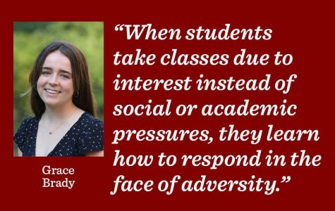 It is important to experiment with courses to diversify and explore interests says reporter Grace Brady.