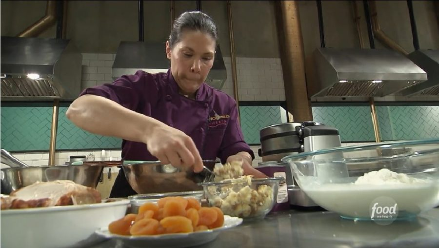 """At the end of season one episode 13 of """"Chopped Sweets,"""" pastry chef Ashley Torto had to make three desserts with unusual ingredients."""