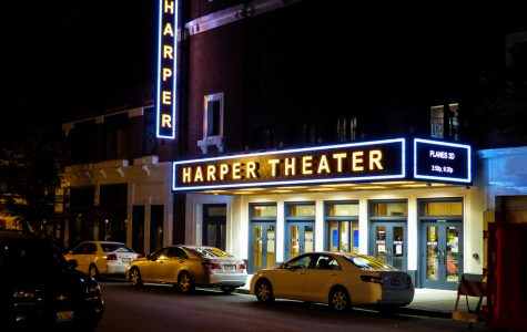 The historic harper theater is still open for carryout concession orders.