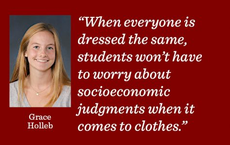 While uniforms get rid of individual expressions of identity through clothing, this is worth losing in order to have a welcoming student environment for students from all socioeconomic backgrounds.