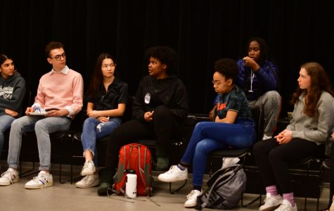 Members of the U-High community attended a meeting to discuss a racist incident March 11. Three months later, students are still calling for substantial change to Lab's culture around race.