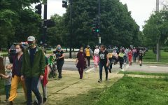 Approximately 150 Lab community members protested police brutality at Midway Plaisance June 1.
