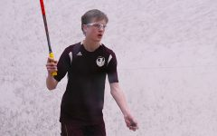 Sophomore William Kraemer plays squash in a competition against the Latin School of Chicago before the novel coronavirus.