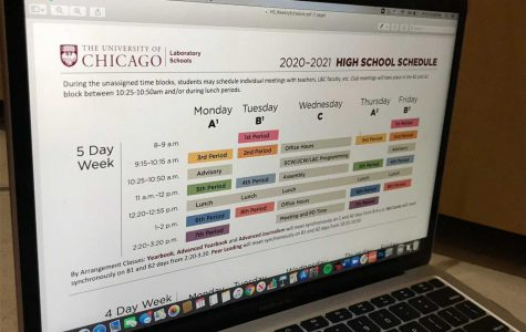 The block schedule was implemented this year to help create routines for students and teachers. The block schedule will be used whether learning is distance, hybrid, or entirely in-person.