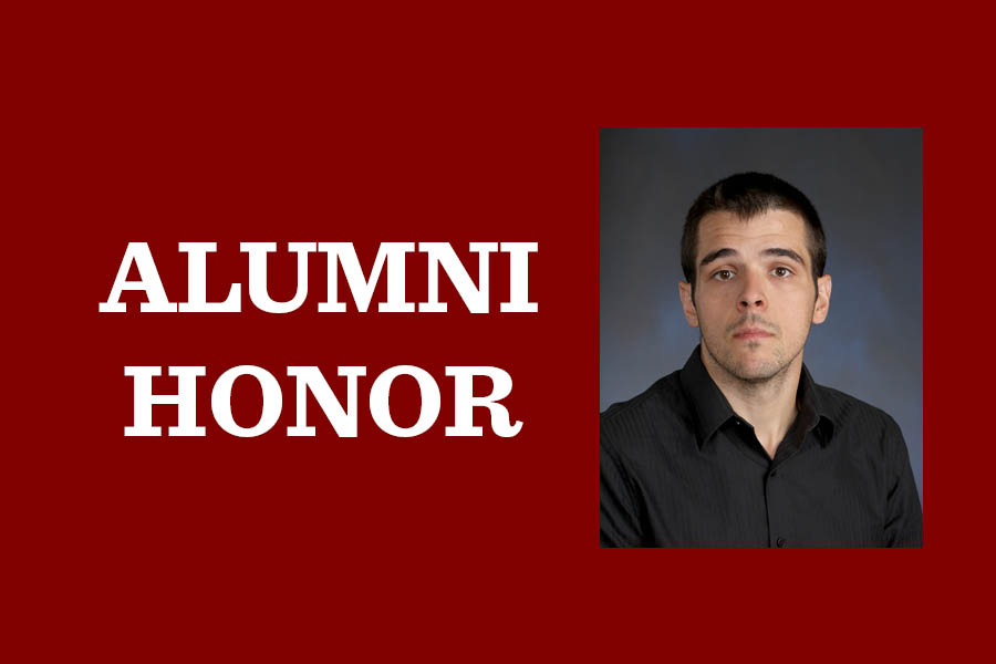Zachary Hund, science department chair and chemistry teacher, received the Young Alumni Award from Elmhurst University for his accomplishments in research, service and teaching.